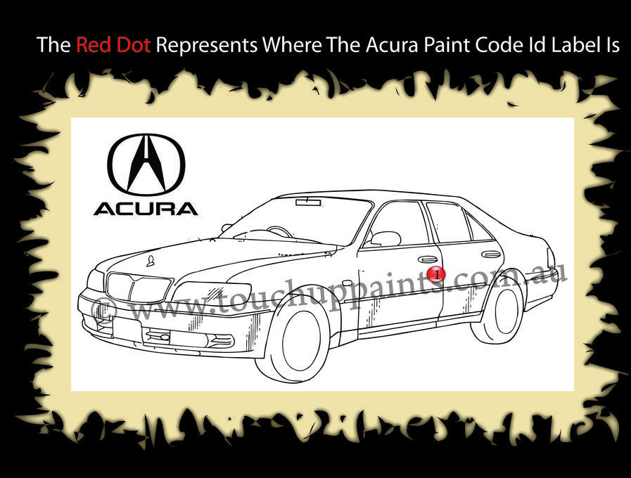 Acura Paint Color Numer Code Id Location