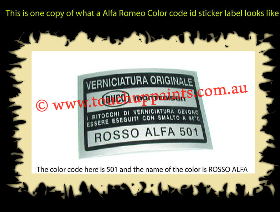 color code guide \u0026 locations find color code sticker or name plate Ducati Paint Codes copy of alfa romeo sticker